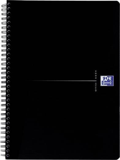Oxford Smart-Black Spiralbuch /353002983, blau, kariert, 90g/qm, DINA5, 90Blatt