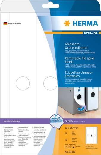 HERMA Ordner-Etiketten Movables/10180 59x297 weiß Inh.75