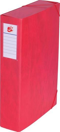 5 Star™ Dokumentenbox Karton, rot, 70mm