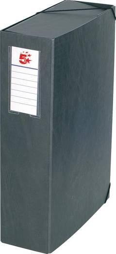 5 Star™ Dokumentenbox Karton, schwarz, 90mm