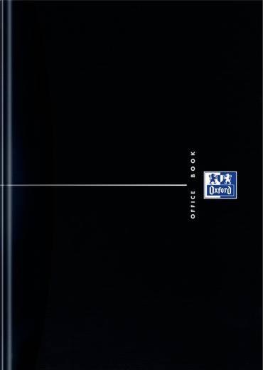 Oxford Collegeblock/353002349, schwarz, liniert , 90g/qm , DIN A4, 96Blatt