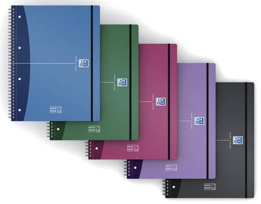 Oxford Movebook A4+ liniert/400011307, farbig sortiert, liniert, DIN A4+