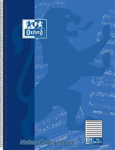 Oxford Noten-Collegeblock, DIN A4, 50 Blatt, Lineatur 14/384405014 DIN A4+ 50 14 ohne Hilfslinien 90 g/qm