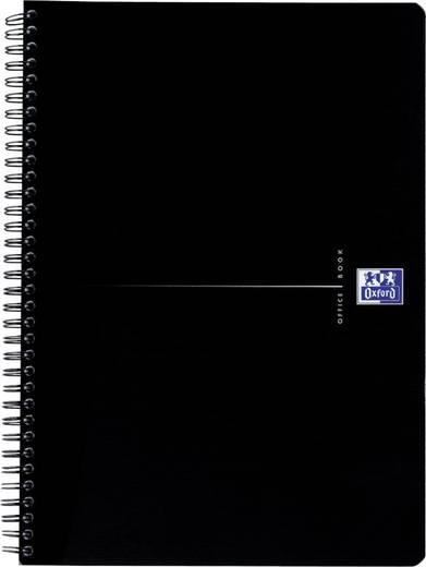 Oxford Smart-Black Spiralbuch /353002988, schwarz, liniert, 90g/qm, DINA5