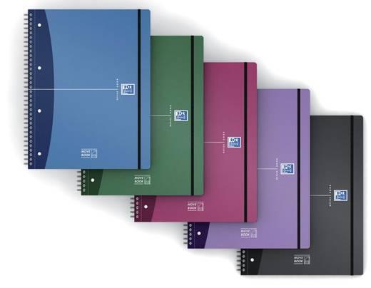 Oxford Movebook A4+ kariert/400011306, farbig sortiert, kariert, DIN A4+
