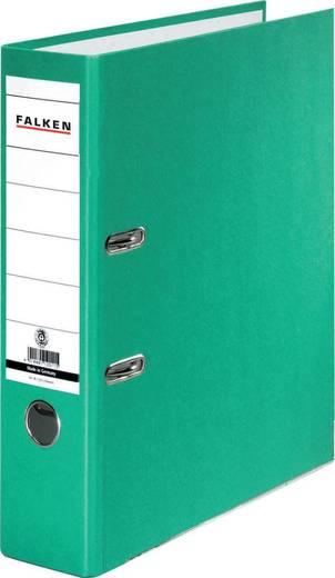 FALKEN Ordner Recycolor /11285723, grün, Rücken 80mm, für A4