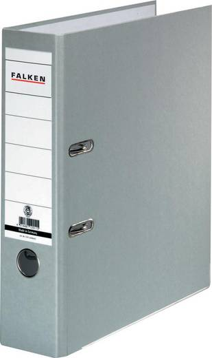 FALKEN Ordner Recycolor /11285228, grau, Rücken 80mm, für A4