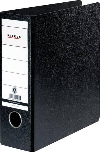 FALKEN Ordner Hartpappe /11285830, schwarz, Rücken 75mm, für A5, A5 hoch