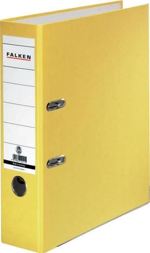 FALKEN Ordner Recycolor /11285772, gelb, Rücken 80mm, für A4