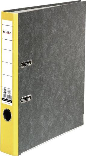 Falken Ordner FALKEN Recycling DIN A4 Rückenbreite: 50 mm Gelb Wolkenmarmor 2 Bügel 80023625
