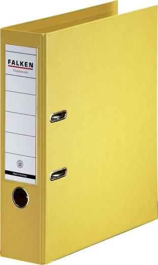 FALKEN Ordner Chromocolor gelb/11285517, gelb, Rücken 80mm, für A4