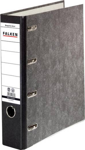 FALKEN Doppel-Ordner/11285426, schwarz, 70mm, für A4