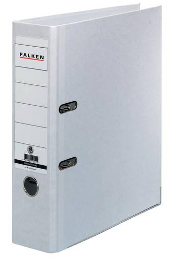 Falken Ordner FALKEN Recycolor DIN A4 Rückenbreite: 80 mm Weiß 2 Bügel 11285897