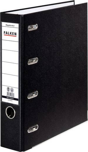 FALKEN Doppel-Ordner /11285343, schwarz, 70mm, für A4