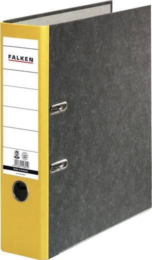 FALKEN Recycling Ordner/80024813, gelb, Rücken 80mm