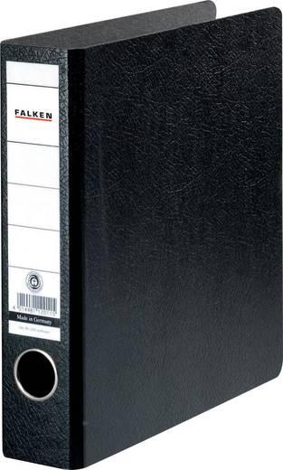 FALKEN Ordner Hartpappe /11285889, schwarz, Rücken 50mm, für A5, A5 hoch