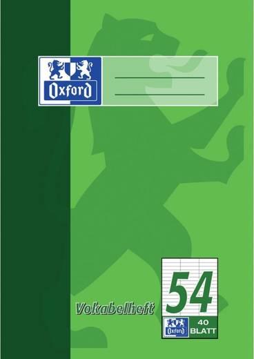 Oxford Vokabelheft DIN A5, 40 Blatt, L54, 90g/qm Optik Paper/384504054 DIN A5 40 54 90 g/m² Optik Paper
