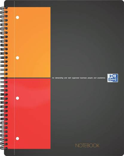 Oxford Notebook Abriß /357001211, kariert 5mm, 80g/qm, DIN A5+, Inh.80