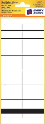 AVERY Zweckform Einzel-Ordner-Etikett 192x38 mm L4805-5, weiß,schmal/kurz,Inh.10