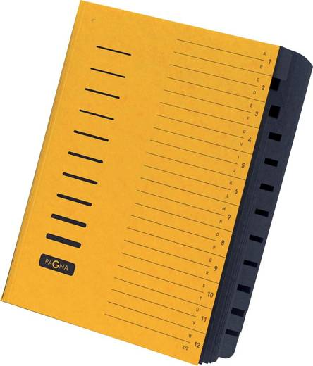 PAGNA Ordnungsmappe 12-teilig/24122-05, gelb, 12-teilig