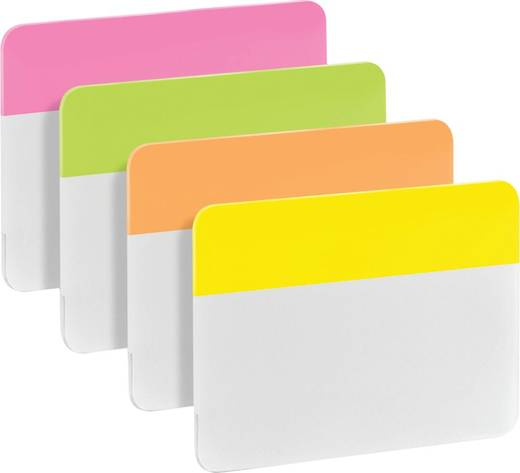 Post-it® Index Strong/686-PLOY, pink+grün+orange+gelb, 50,8x38mm, Inh. 24