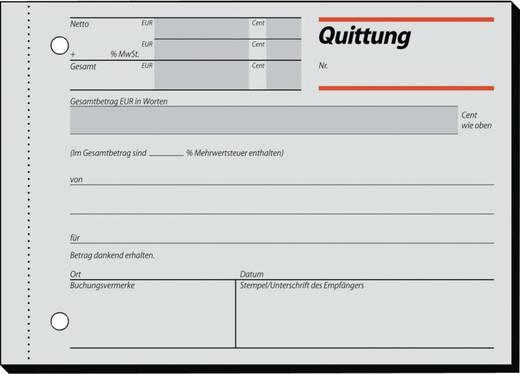 sigel Quittung/RC021, Recycling, mit Blaupapier, A6quer, Inh. 100 Blatt