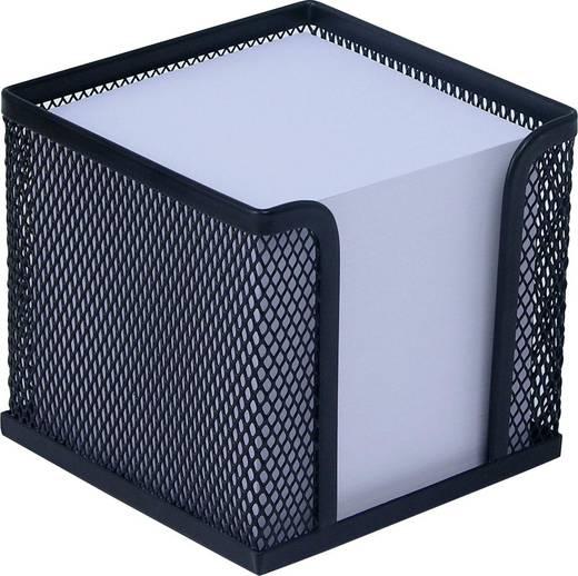 WEDO Zettelbox Mesh /65701, schwarz, Zettelbox inkl. Papier, 110x100x100mm