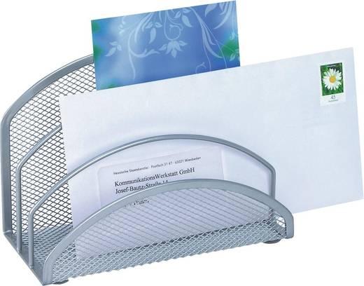 WEDO Briefständer Mesh /65354, silber, 3 Fächer, 180x85x125mm