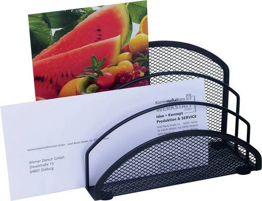 WEDO Briefständer Mesh/65301, schwarz, 3 Fächer, 180x85x125mm