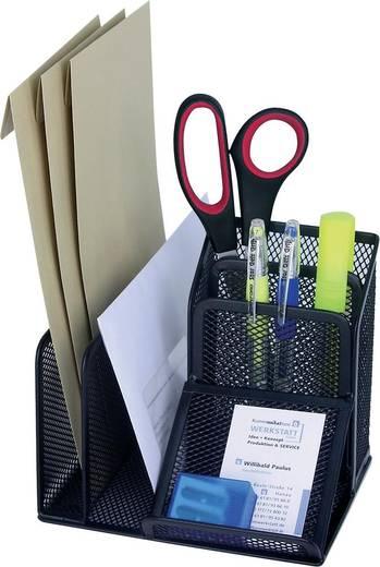 WEDO Schreibtisch-Organizer Mesh /65501,sw,4 Fächer+Schrägeablage,158x145x135mm