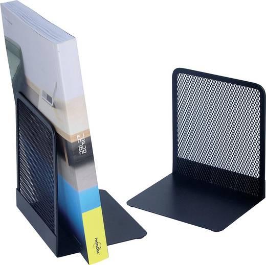 WEDO Buchstützen Mesh /651201, schwarz, 120x100x135mm, Inh. 2