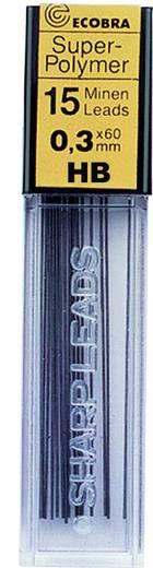 ECOBRA Feinminen 0,3 mm HB/833302, HB, 0,3mm, Inh. 15