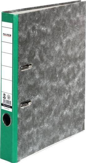 Falken Ordner FALKEN Recycling DIN A4 Rückenbreite: 50 mm Grün Wolkenmarmor 2 Bügel 80023500