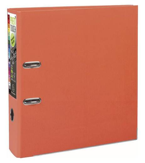 EXACOMPTA Prem Touch Ordner DIN A4 Maxi 80mm /53344E, orange, PP , 320x300mm