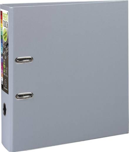 EXACOMPTA Prem Touch Ordner DIN A4 Maxi 80mm /53354E, dunkel grau, PP,320x300mm