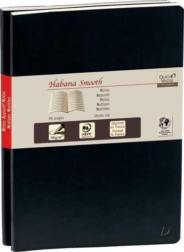 QUO VADIS Notizbuch Habanna liniert, 237192Q, schwarz, 90g/qm, 16x24cm, Inh.2