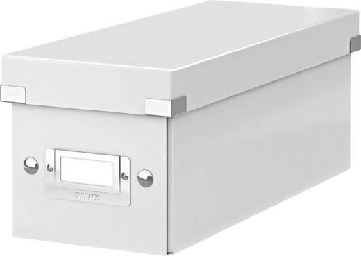 LEITZ CD Box Click & Store/6041-00-01, weiß, 127x124x320mm, 1.400g/qm