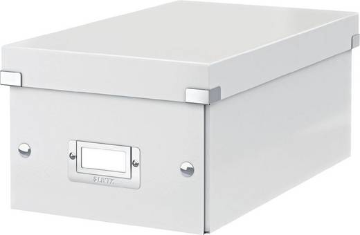 LEITZ DVD Box Click & Store/6042-00-01, weiß, 190x135x320mm, 1.400g/qm
