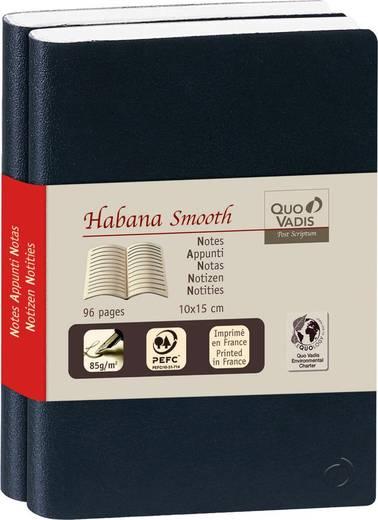 QUO VADIS Notizbuch Habanna liniert, 237180Q, schwarz, 90g/qm, 10x15cm, Inh.2