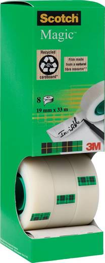 Klebeband Scotch Scotch® Magic™ 810 Matt (L x B) 33 m x 19 mm Inhalt: 8 Rolle(n)