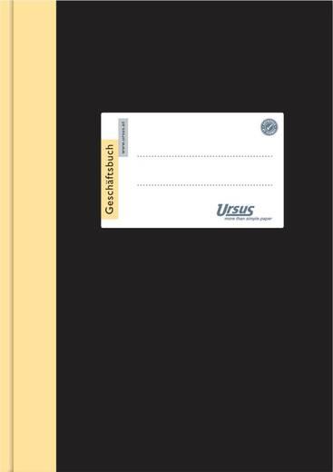 URSUS Geschäftsbuch, CF80g/qm, 2115B144L/608375, weiß, liniert, 144 Blatt,DIN A5