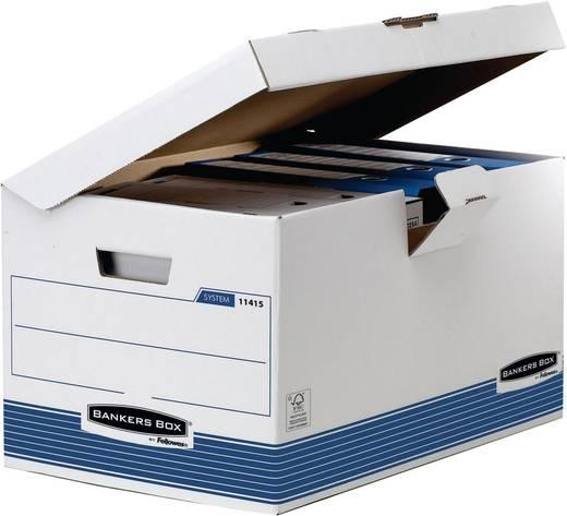 BANKERS BOX Klappdeckelbox Container Maxi /1141501 B560xH293xT390mm weiß/blau