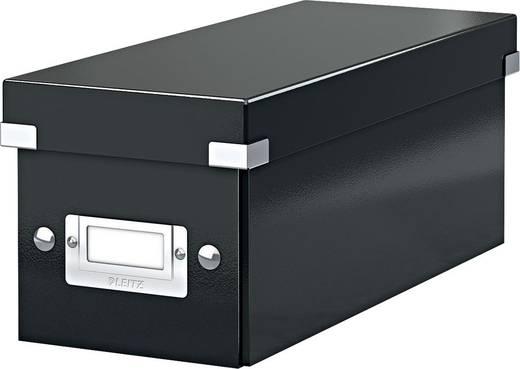 LEITZ CD Box Click & Store/6041-00-95, schwarz, 127x124x320mm, 1.400g/qm