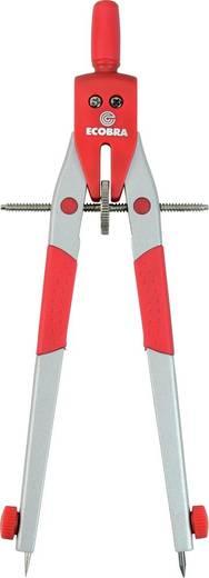 ECOBRA Geometrie-Zirkel Modern Art/375444 Arbeitsbereich bis 420 mm silber / rot mit Mitteltriebschraube