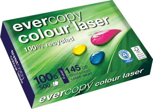 Clairefontaine Forever Colour Laser/50022C, DIN A4 , weiß , 100 g/qm, Inh.500