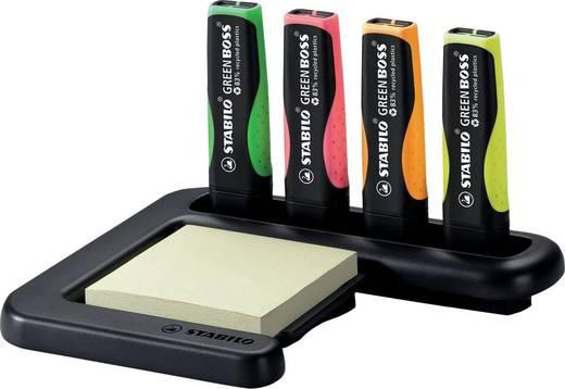 STABILO Textmarker GREEN BOSS, Tischset/6070/04, sortiert, Inh. 4
