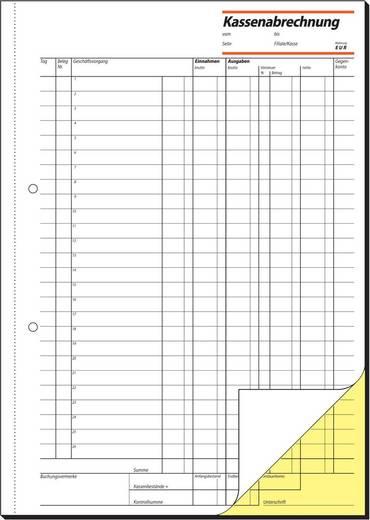 sigel Kassenabrechnung/KG428, weiß+gelb, mit Blaupapier, A4 hoch, 2x50Blatt