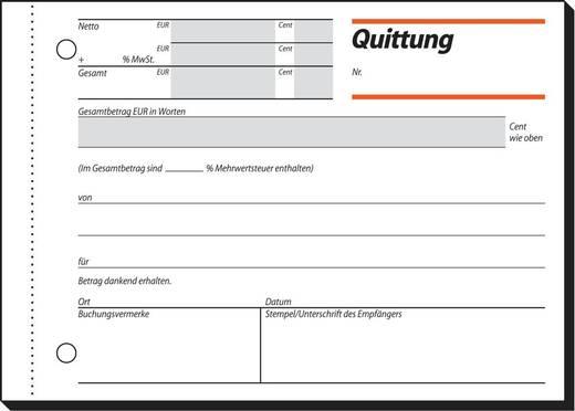 sigel Quittung/Qu615, weiß, A6quer, Inh. 50 Blatt