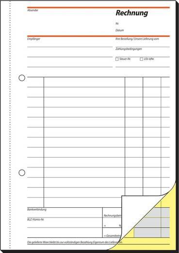 sigel Rechnung/SD031, weiß+gelb, SD, A5 hoch, Inh. 2 x 40 Blatt