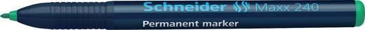 Schneider Permanent-Marker 240/124004, grün, Gehäuse blau, 1-2mm